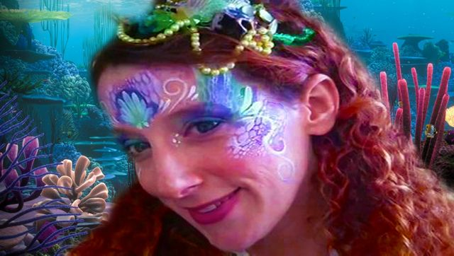 Mermaid+Face+Painting   Here To Watch Faerie Meadow create this pretty Mermaid Face Paint ...