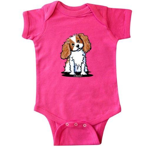 KiniArt Ckc King Charles Dog Toy Inktastic KC Cavalier Spaniel Infant Creeper