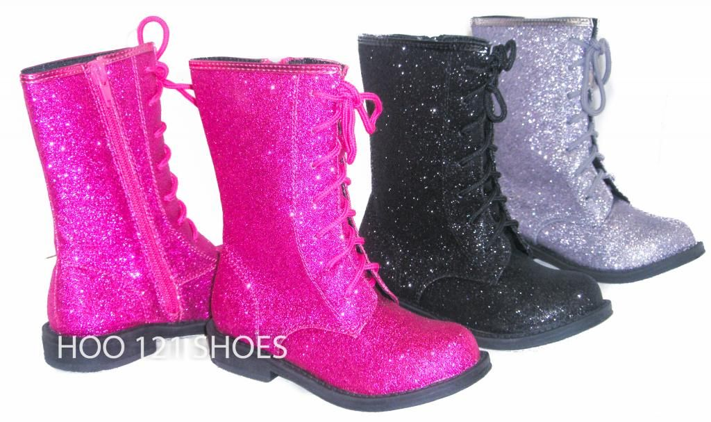 GLITTER Girls Boot*Adjustable Lace Up
