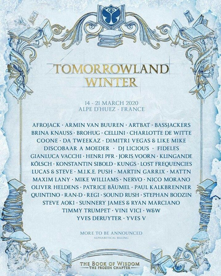Winter Festival 2020.Tomorrowland Winter Festival 2020 Poster Tml Winter 2020