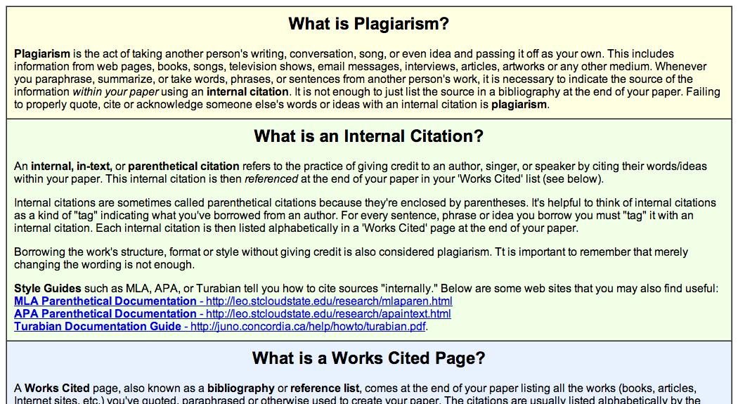 What I Plagiarism Word Television Show Parenthtical Notation Paraphrasing