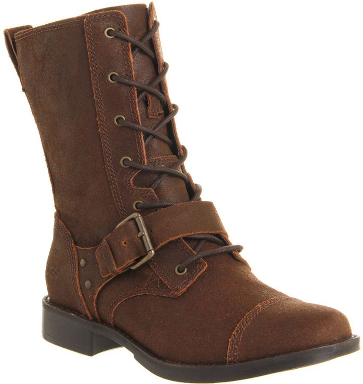 06d9bc61954 UGG Australia Marela Lace Boot Dark Chestnut Leather - Knee Boots on ...