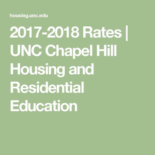 UNC Chapel Hill Housing And Residential