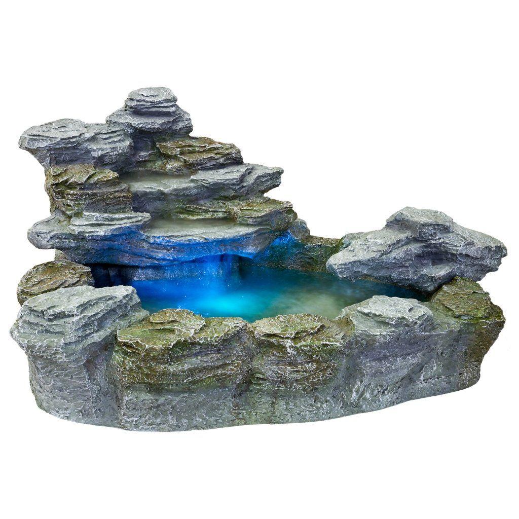 Stilista Mystischer Steinoptik Gartenbrunnen Olymp 100x80x60 Inkl Pumpe Beleuchtung Rot Blau Gelb Grun Amazon D Springbrunnen Gartenbrunnen Zimmerbrunnen
