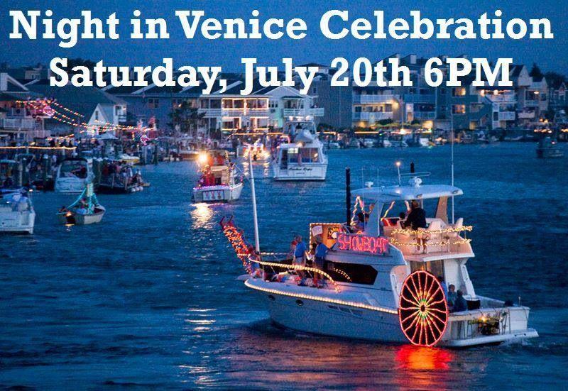 Night in veniceocnj ocean city nj ocean city venice boat