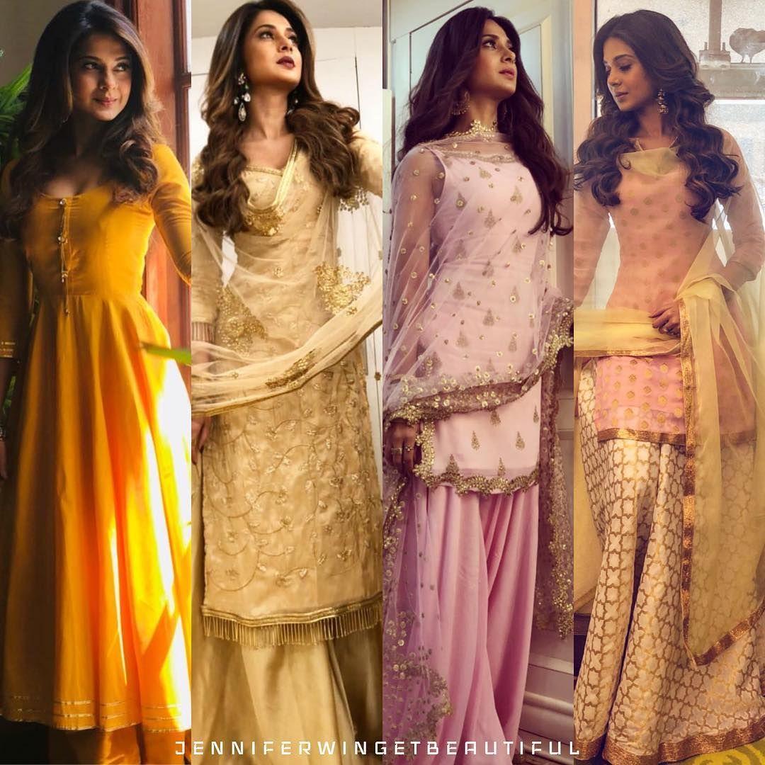 Jennifer Winget Perfect Jenniferwingetbeautiful Sur Instagram Love Her Outfits Jenniferwinget1 Indian Designer Outfits Fashion Designer Dresses Indian