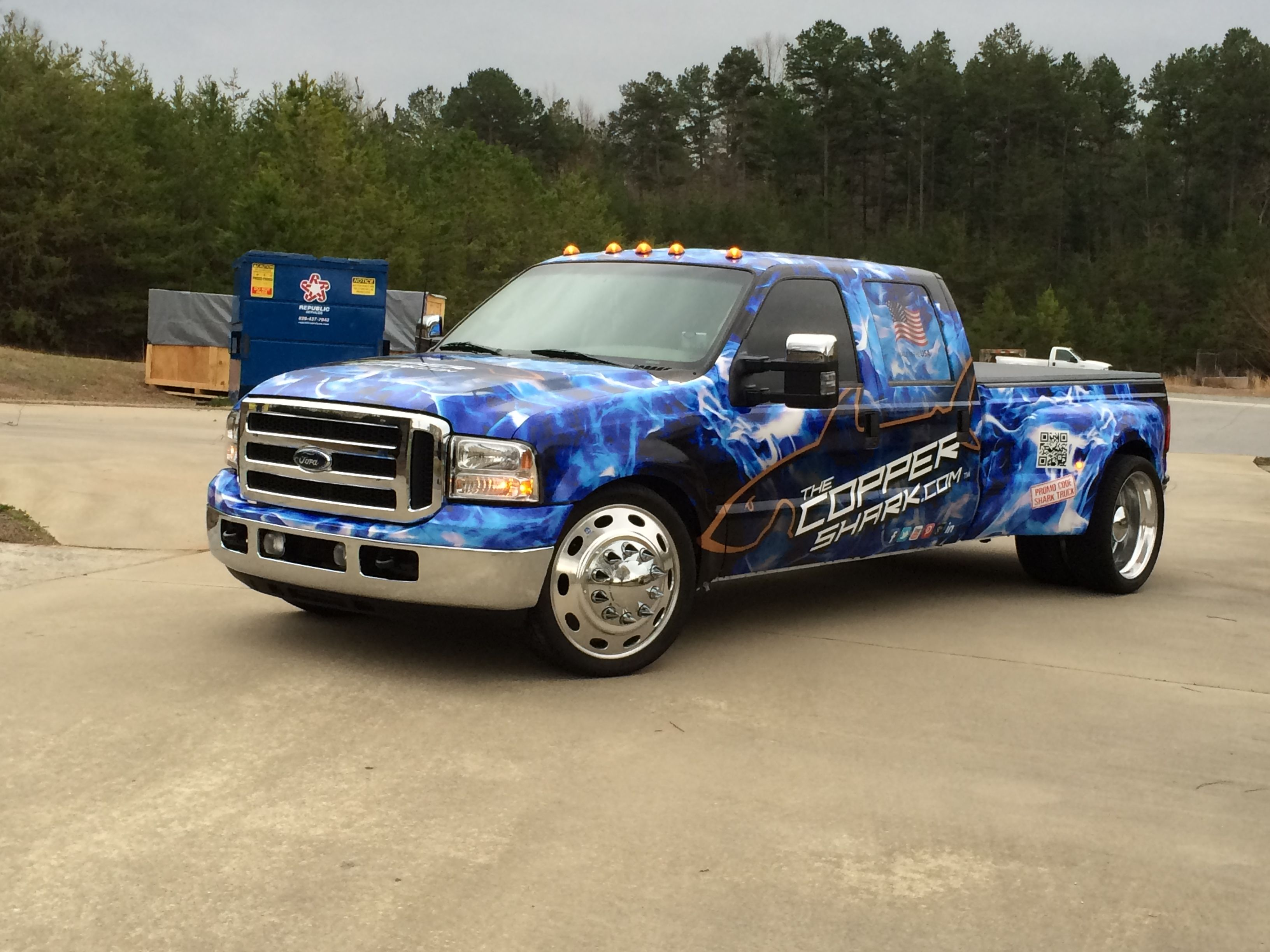 The Shark Truck with its shiny new wrap from The Print Path