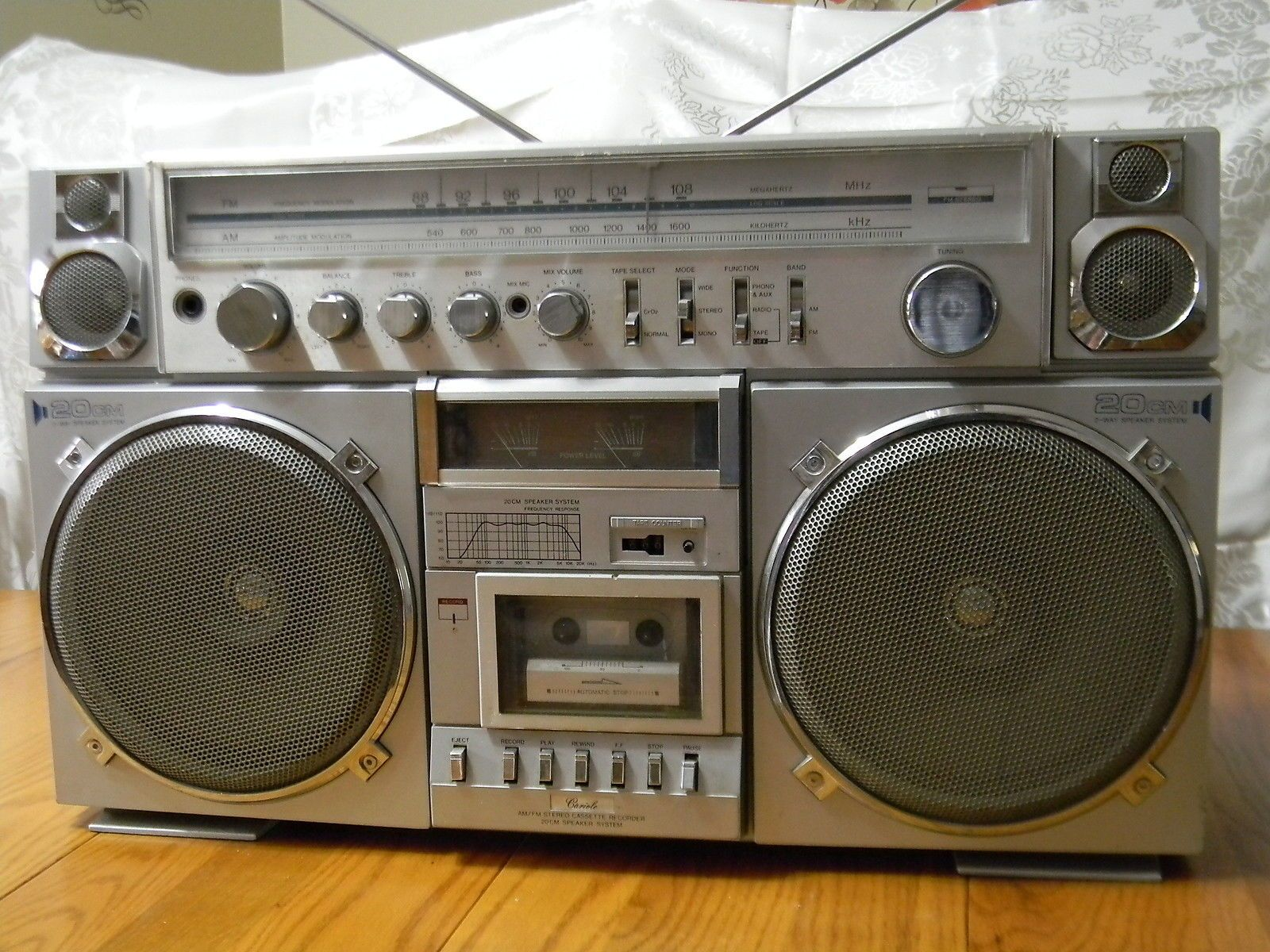 Cariole 20 CM Huge Ghettoblaster Boom Box Radio Stereo Working ...