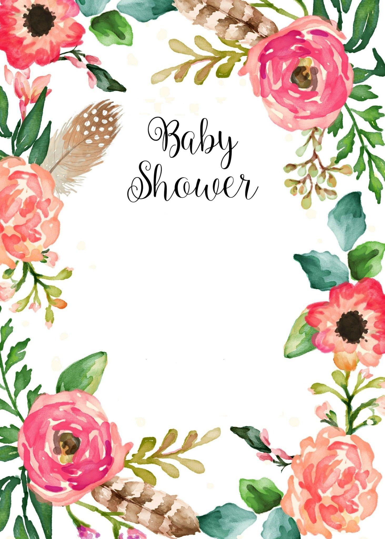 Invitación Editable Baby Shower Niña Baby Shower