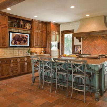 Pin By Brianna Walker On Kitchen Turquoise Kitchen Kitchen Island Size Kitchen Design