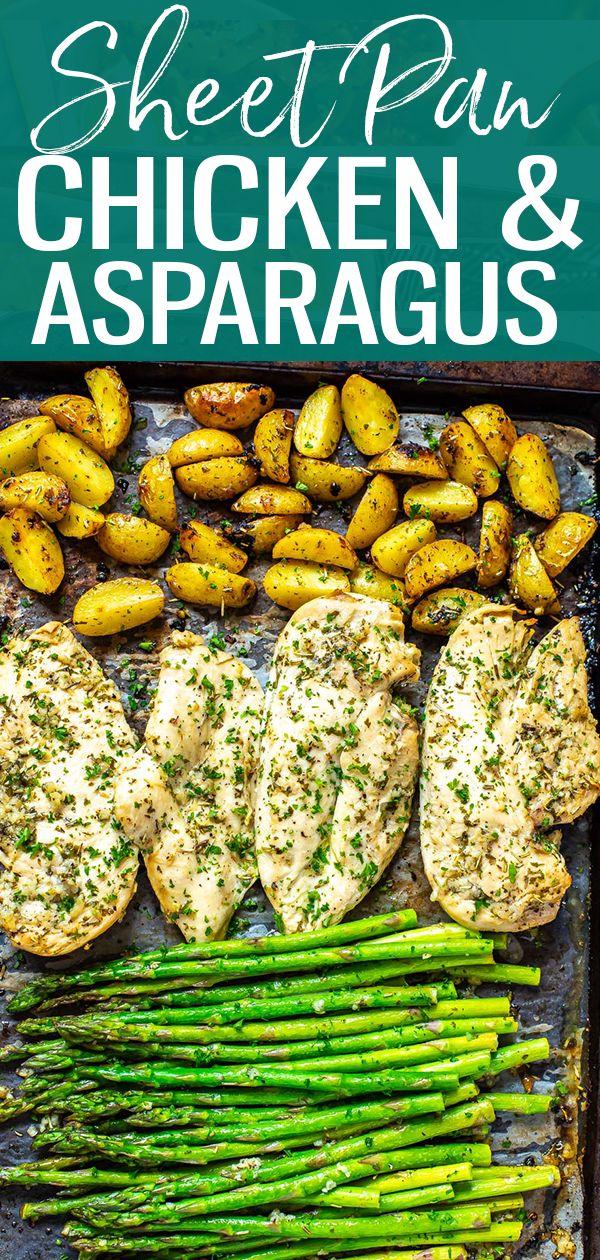 Sheet Pan Chicken and Asparagus - The Girl on Bloor #onepandinnerschicken