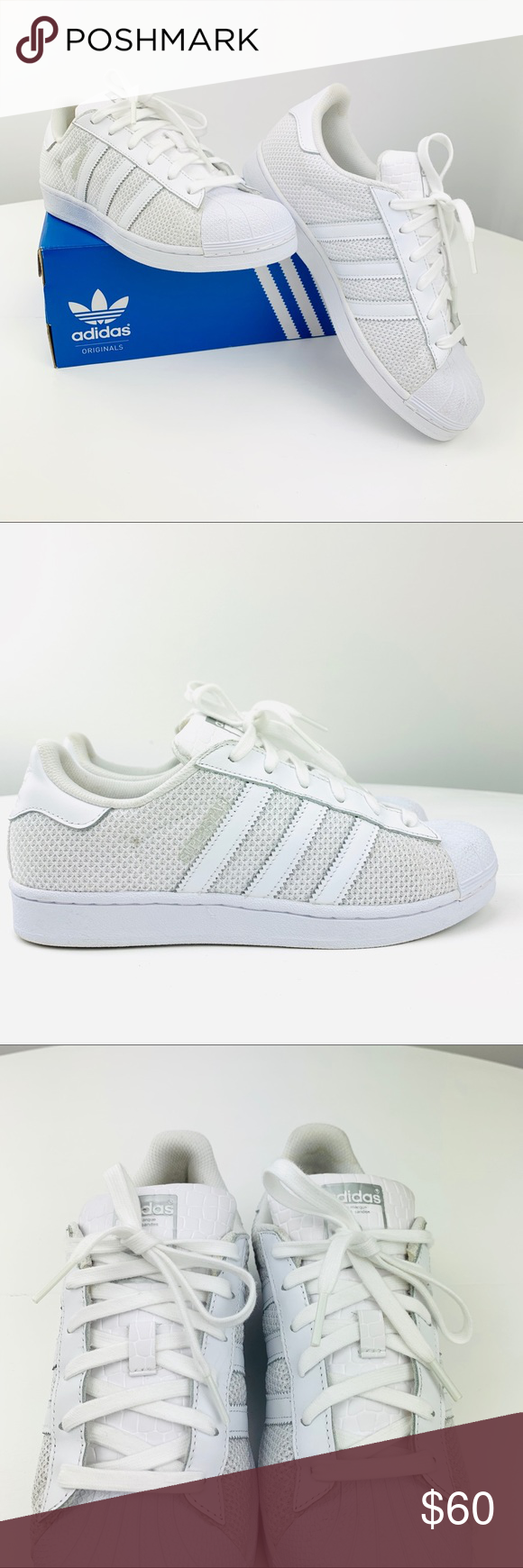 0dec1f448e Adidas Superstar Running Shoes Adidas Superstar Running Shoes •Size  7.5  women  6.5 Men