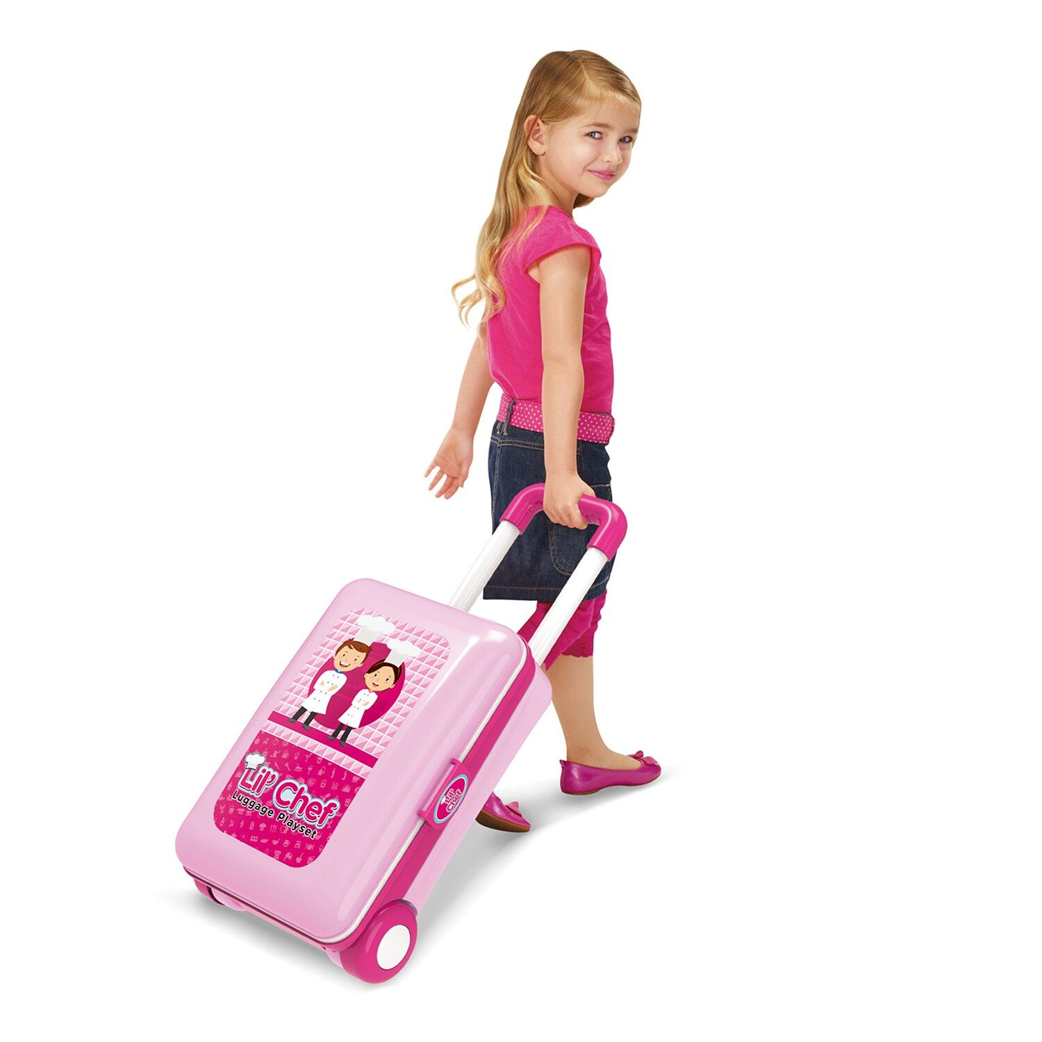 World Tech Toys Lil' Chef Pink 37 Piece Luggage Playset #techtoys