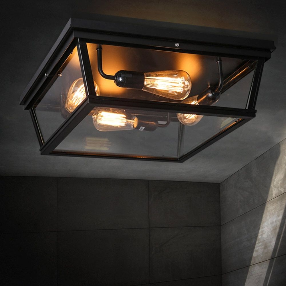 Badkamer 1e verdieping loft square outdoor ceiling lights loft square outdoor ceiling lights industrial iron art craft trunk shaped country mozeypictures Images
