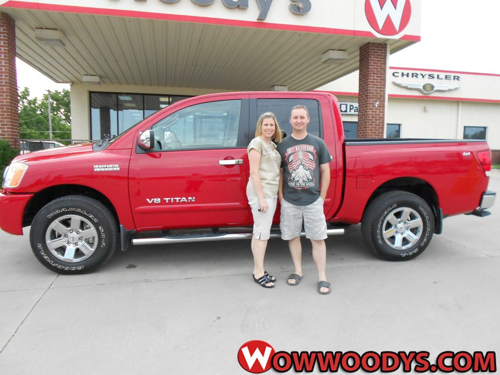 "William and Ginger Hawthorne from Hamilton, Missouri purchased this 2011 Nissan Titan and wrote, ""Great deal and seamless sales process."" To view similar vehicles and more, go to www.wowwoodys.com today!"