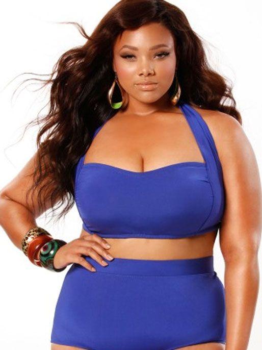 Plus Size Black Women Women's plus size swimwear
