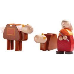 Krippenfiguren Kamele + Kameltreiber, bunt Haba #bearplushtoy