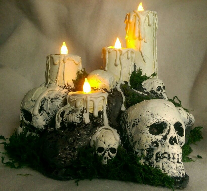 DIY paper mache LED light Halloween centerpiece Art de - halloween centerpiece