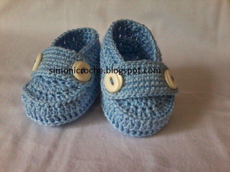 bce8d258d8  Simoni crochê   Mocassim de crochê para bebe Sapatos Bebê