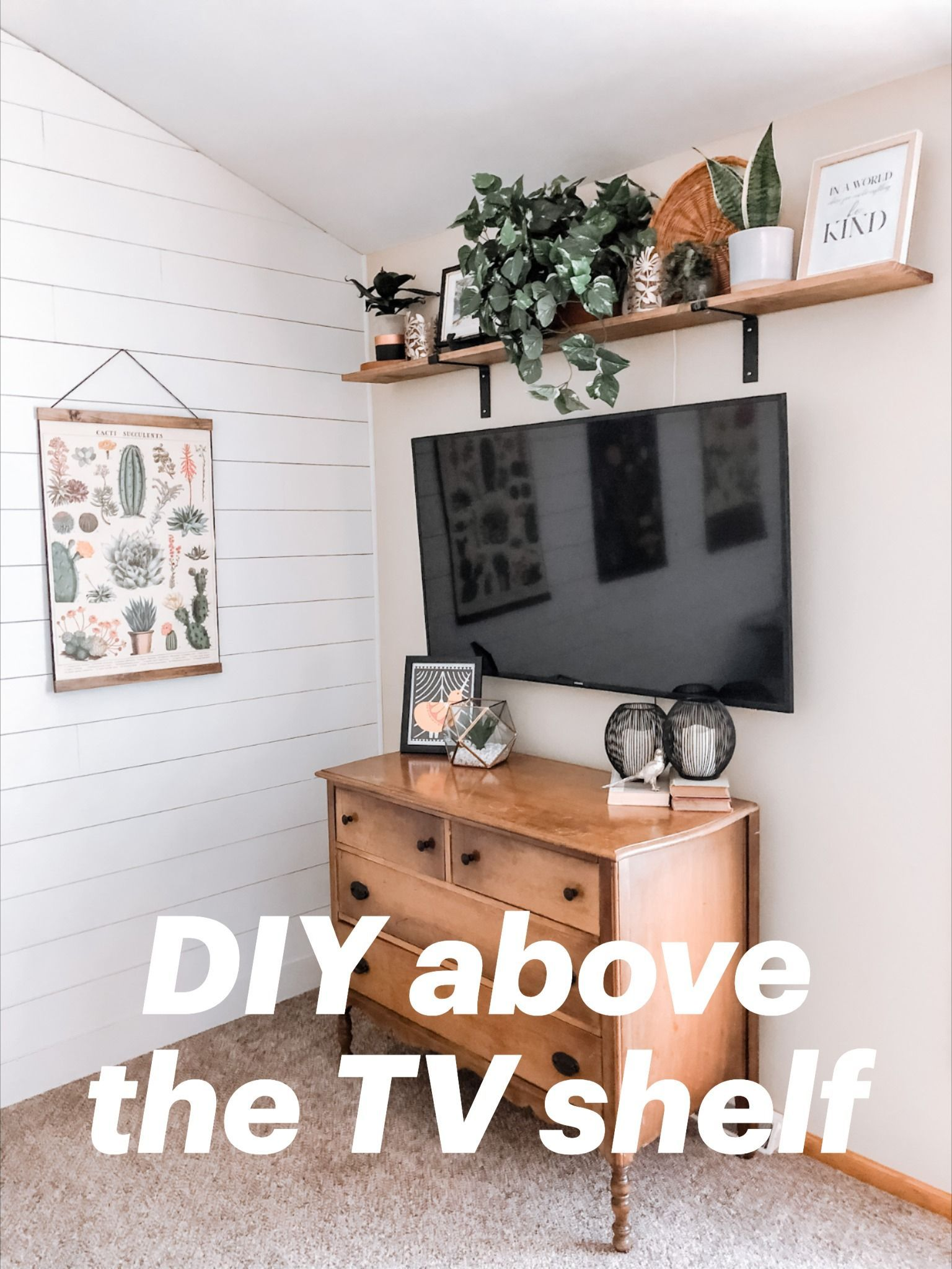 Above The Tv Shelf In 2020 Living Room Tv Wall Wall D