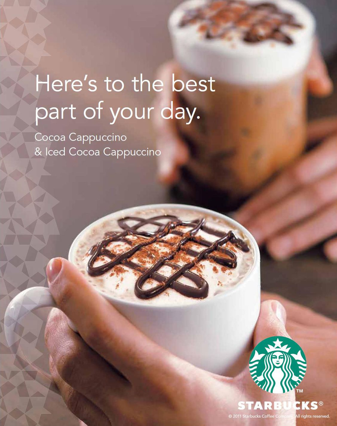 Morning! :) Here's to the best part of your day. Starbucks #Advertising