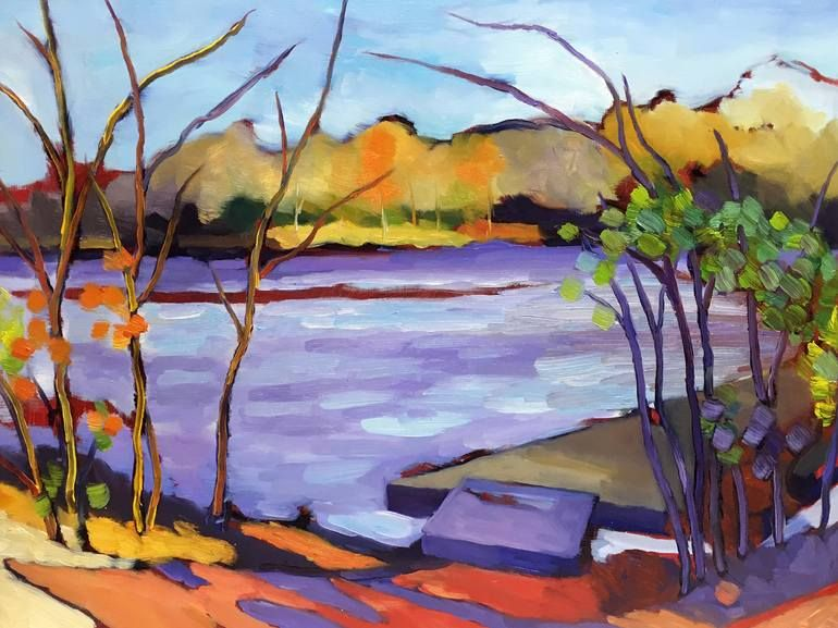 Fall Convergence Painting Colorful Landscape Landscape Paintings