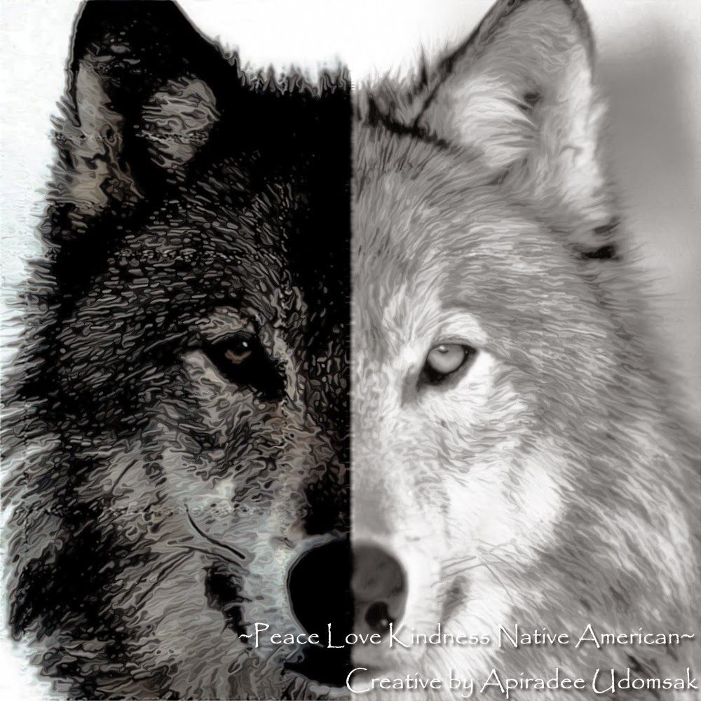 Peace Love Kindness Poems A Tale Of Two Wolves Two Wolves Two Wolves Tattoo White Wolf Tattoo