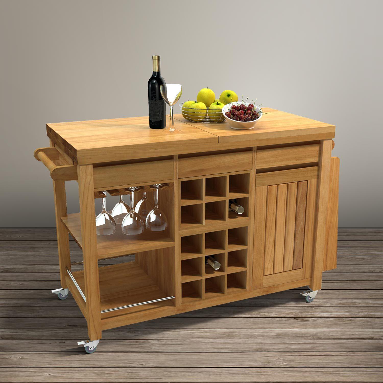 Troli Dapur Dapur W Home Wooden Kitchen Accessories