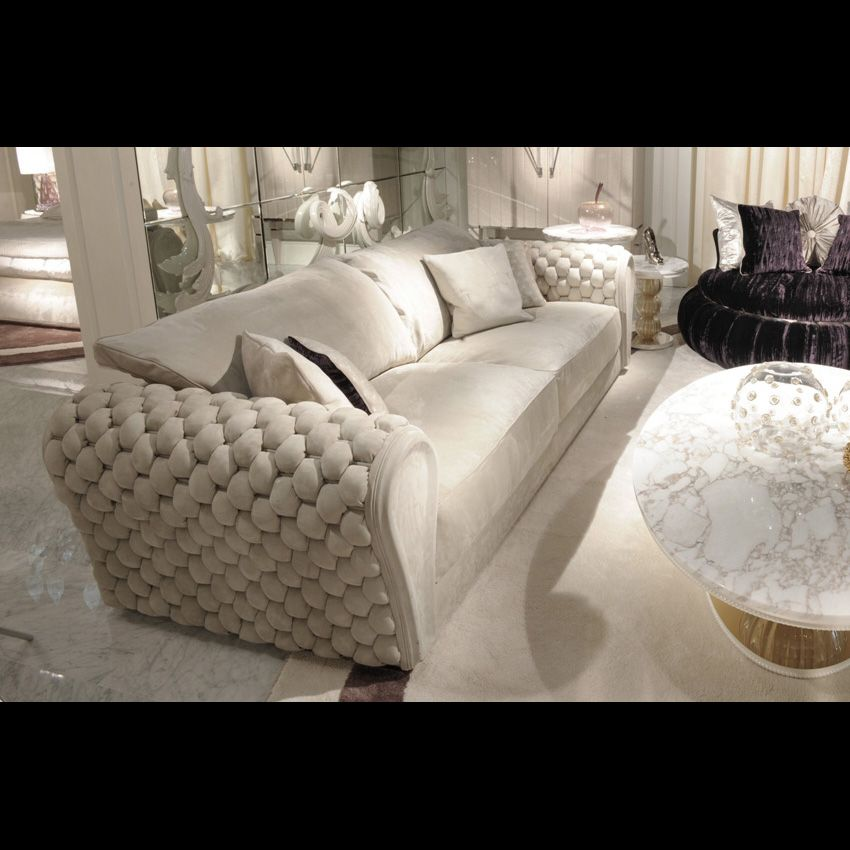 Superbe LUXURY LEATHER SOFA   Woven Leather | Taylor Llorente