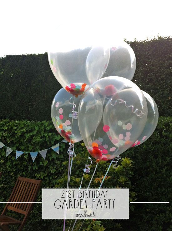 6 balloons 12 clear confetti filled balloons birthday party wedding
