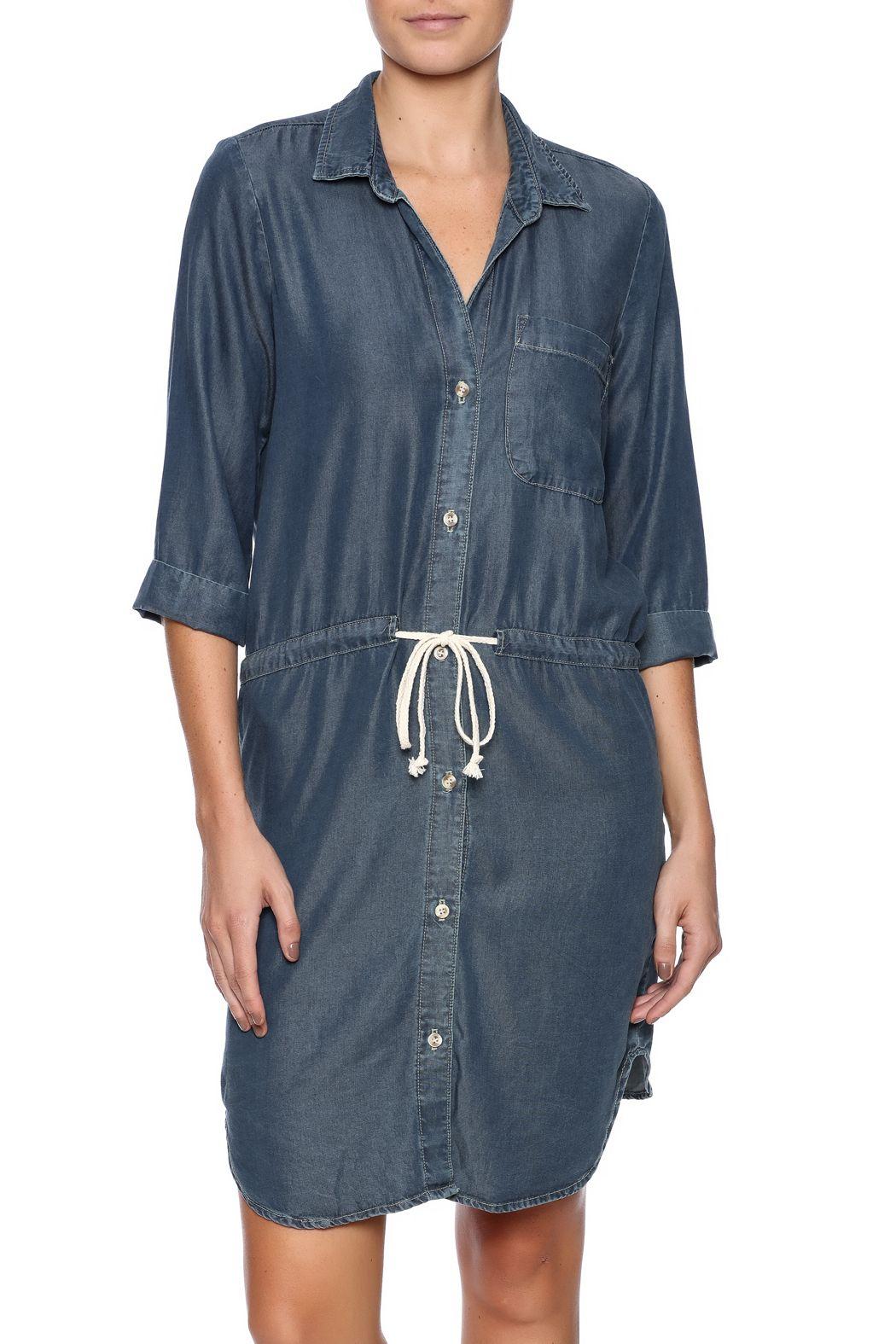 Glam button down tencel dress