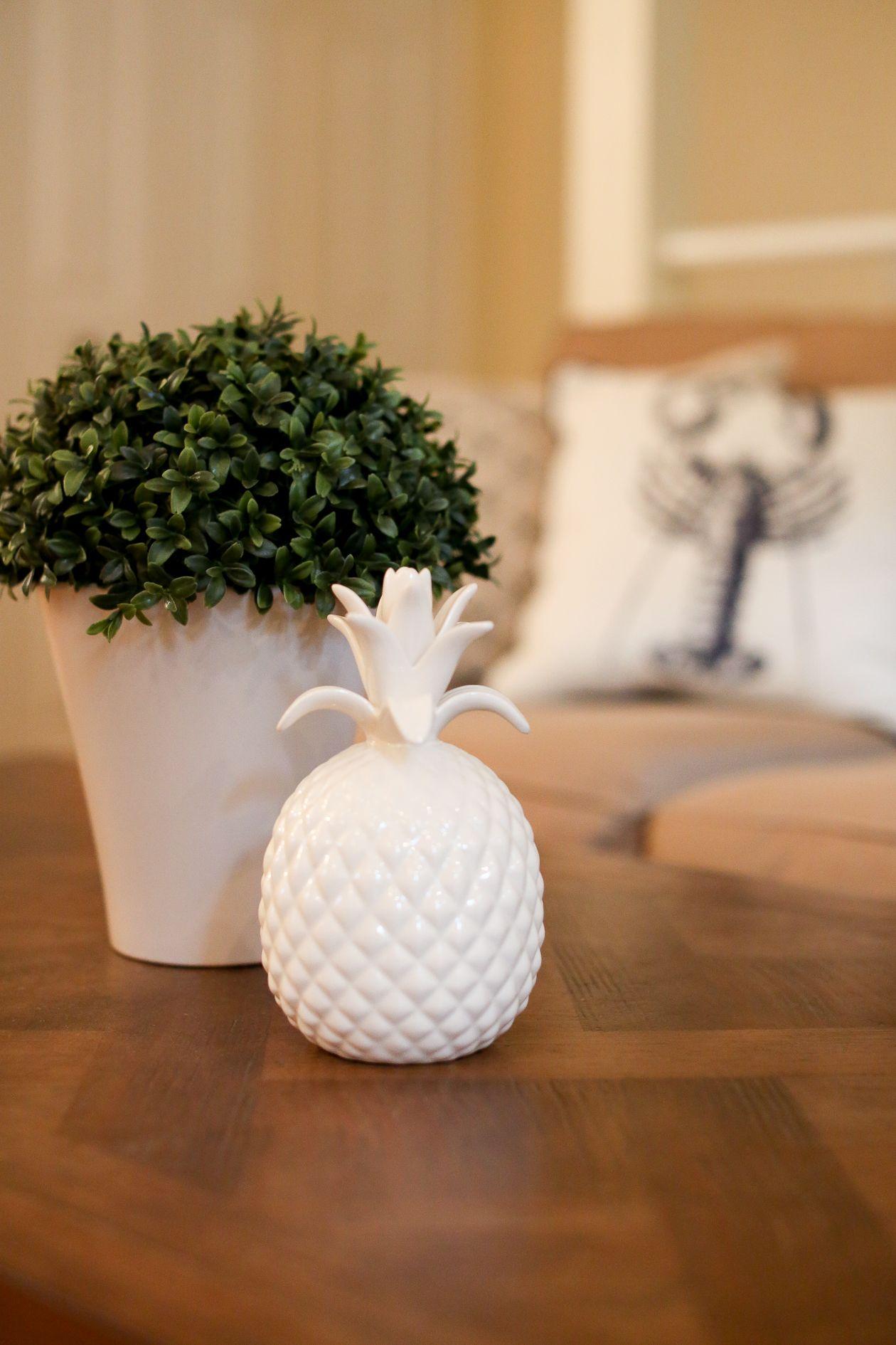 Ceramic Pineapple Decor