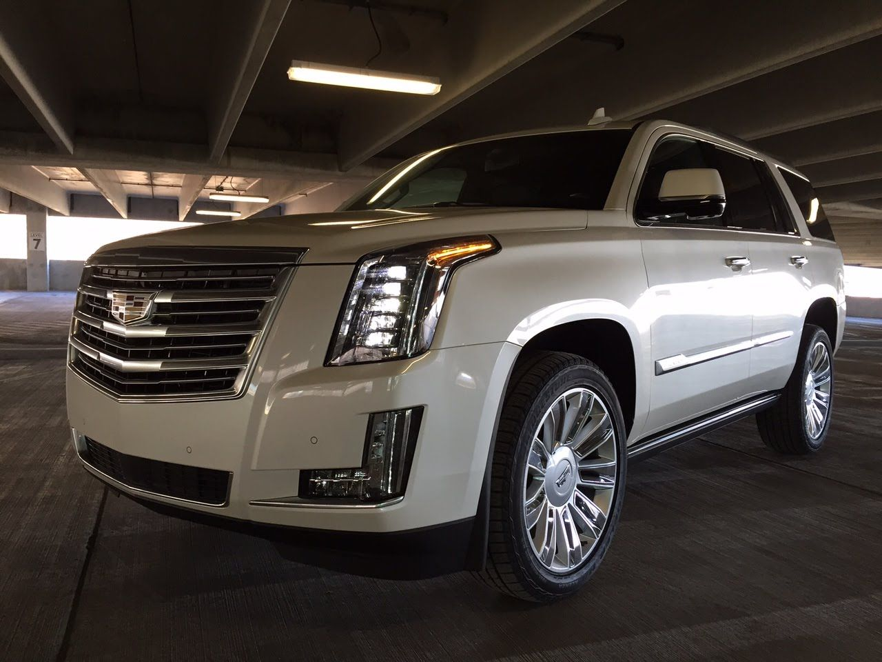 Escalade with the attitude wearing a custom grille s