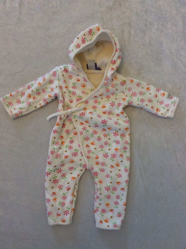 2acedbd45ffac Baby Yak Hooded Romper Terry Lined Wrap 0-6 Months Baby Girl Flowers  Boutique #babyyak