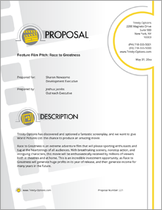view movie pitch sample proposal sample business opportunity