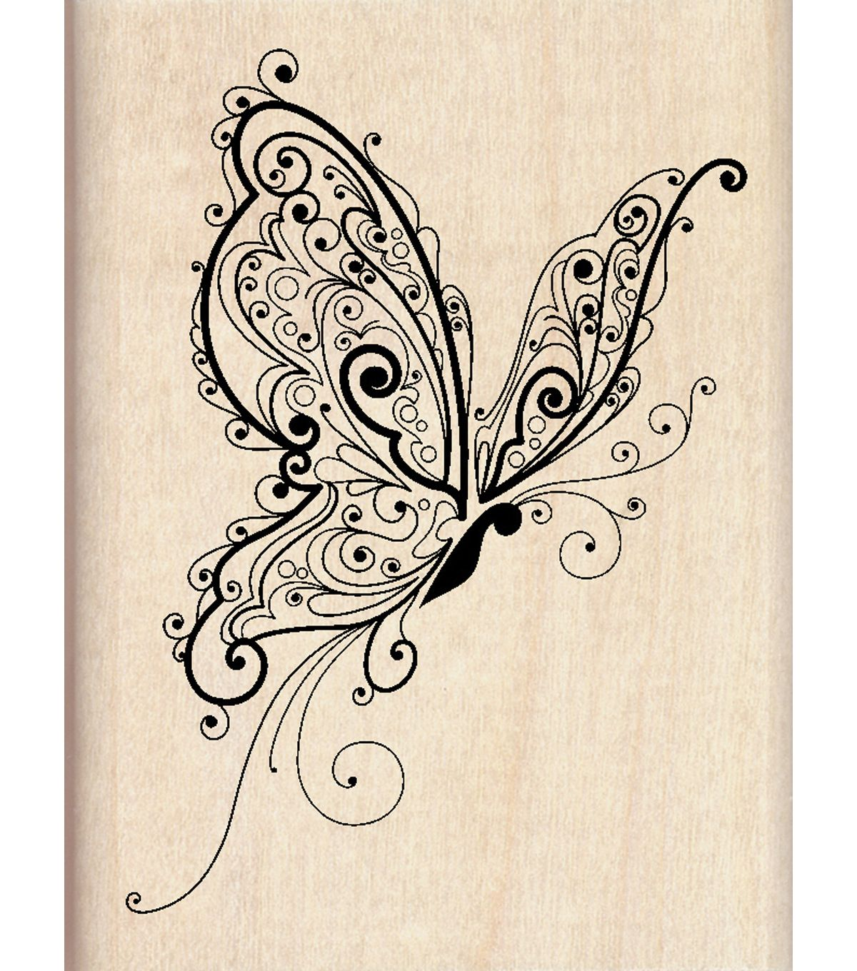inkadinkado rubber stamp butterfly products tattoos