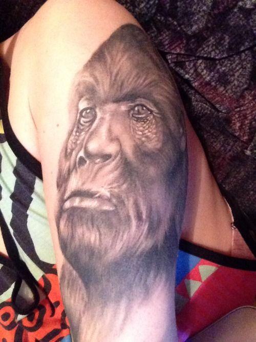 Bigfoot Tattoo Designs | Got my Sasquatch done by Paul Naylor at Maneki Neko in Northwich ...