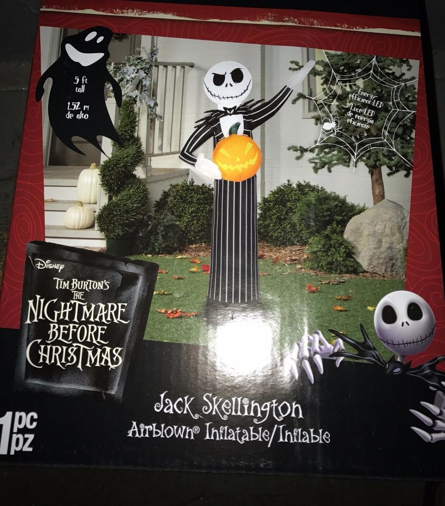 Details About Airblown Inflatable Jack Skellington With Pumpkin