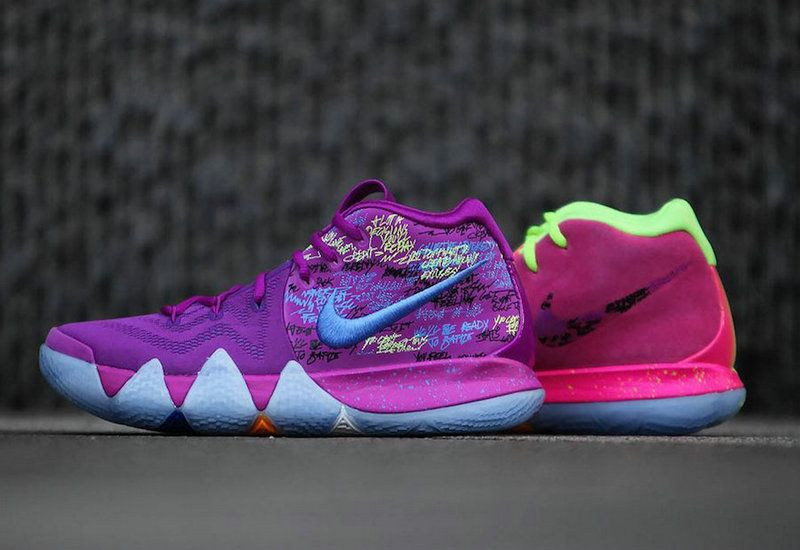 new concept 4558b 9df3d 2018 Factory Authentic Nike Kyrie 4 Confetti On Feet Size 13 AJ1691-900  Kyrie Irving Basketball 2018 Shoes For Sale