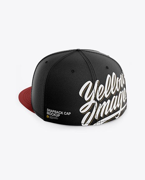 Download Snapback Cap Mockup Back Half Side View In Apparel Mockups On Yellow Images Object Mockups Design Mockup Free Mockup Mockup Downloads