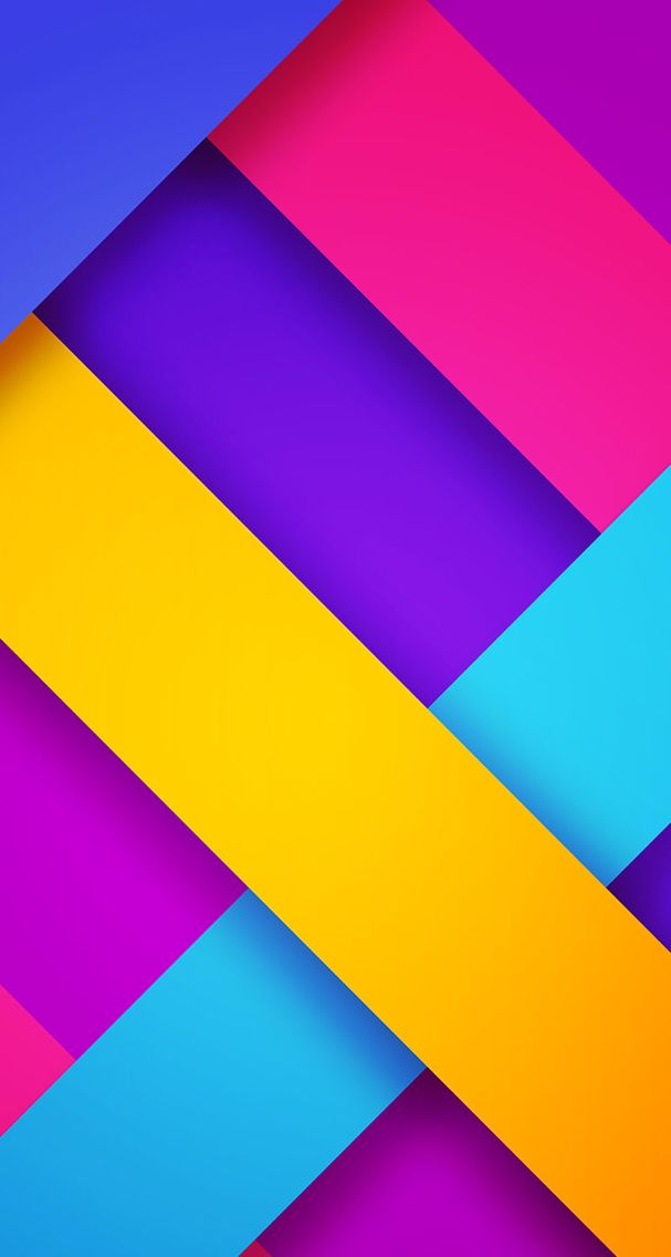 Free Colorful Geometric Wallpaper: Bold Colors Abstract Geometric Wallpaper