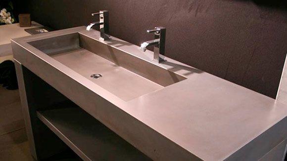 2 en 1 lavabo beton