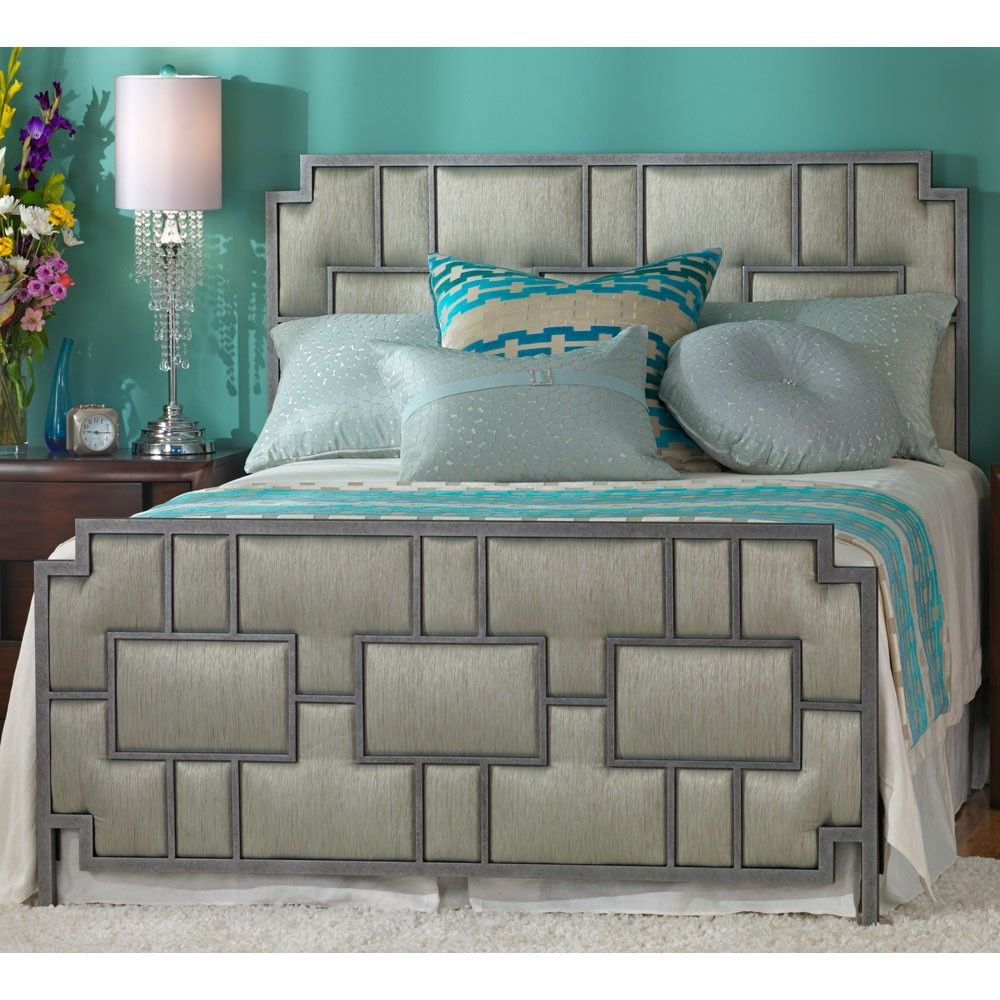 Best Capistrano Iron Upholstery Bed In A Silver Bisque Finish 400 x 300