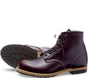 no. 9011 beckman, red wing style black cherry leather boots from red wing shoes
