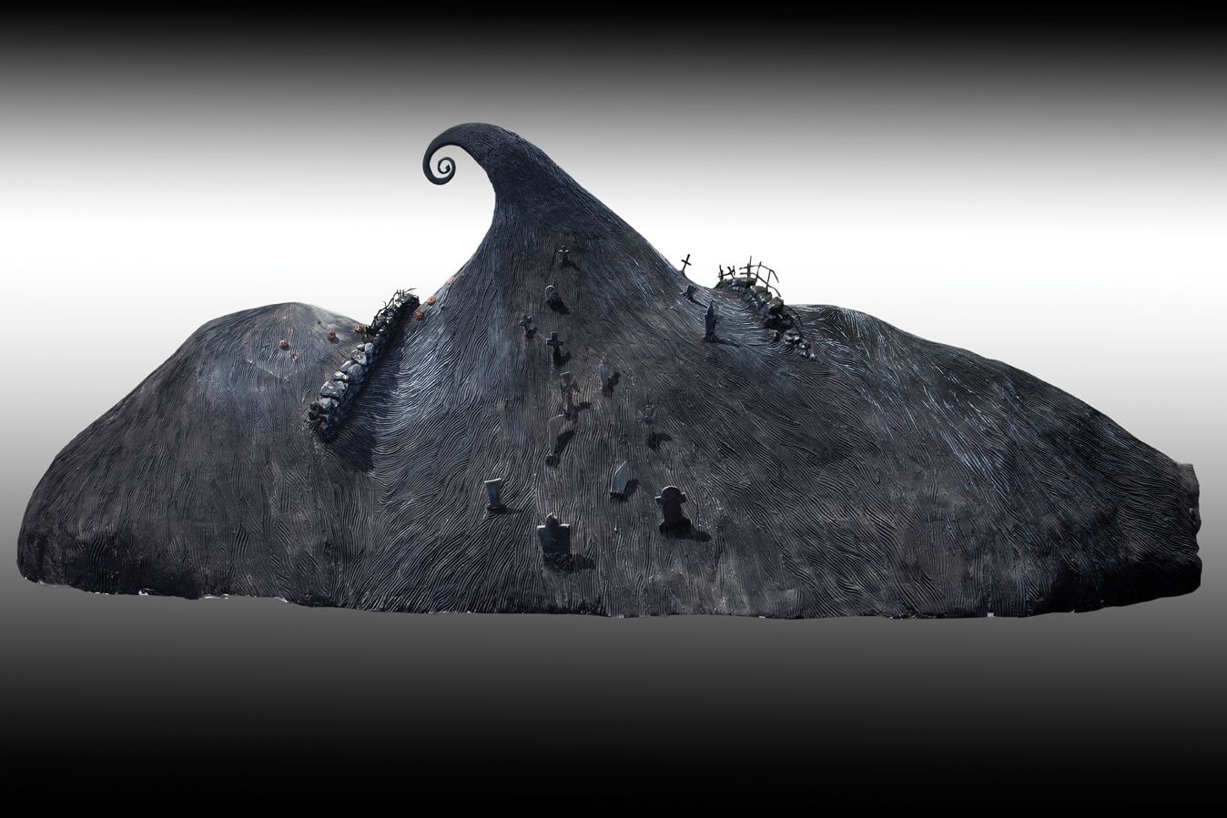 """Iconic screen-used """"Spiral Hill"""" set piece from The Nightmare Before ..."""