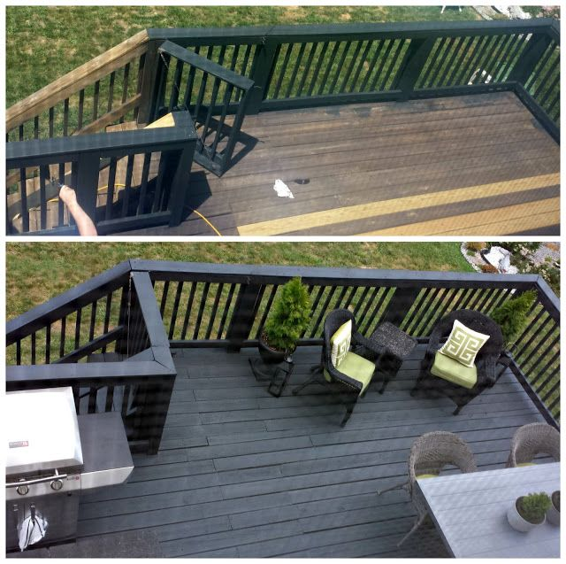 Before Amp After Black Slate Stain Deck Amp Repair My