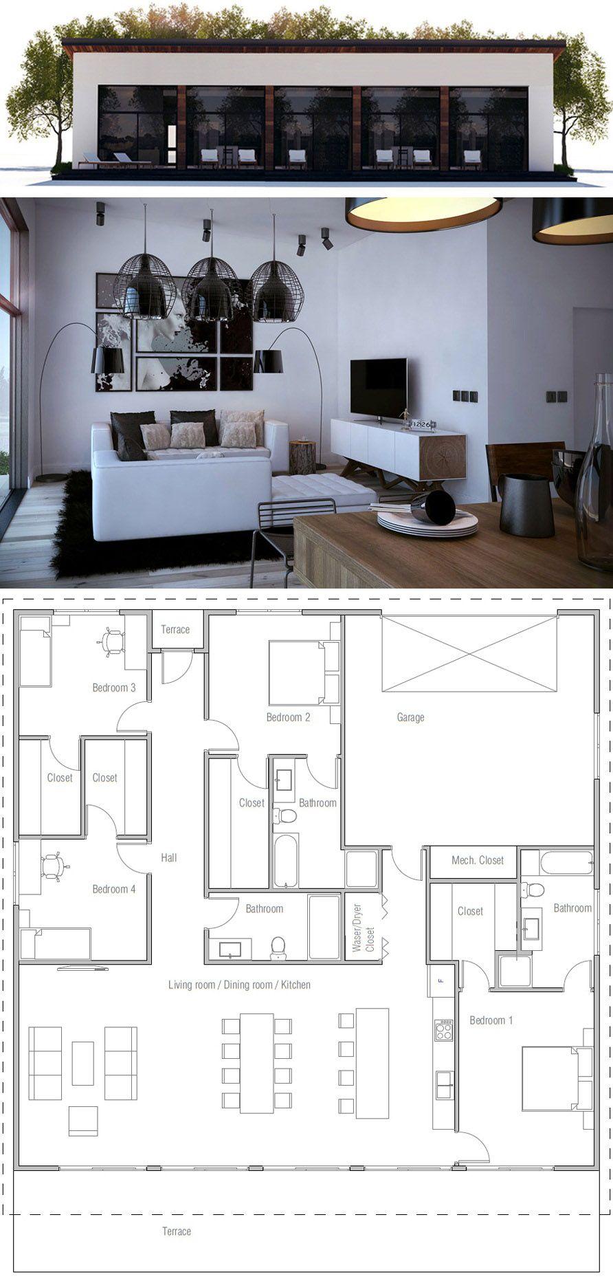 Houses Modern Floor Plans Small House Plans Modern House Plans