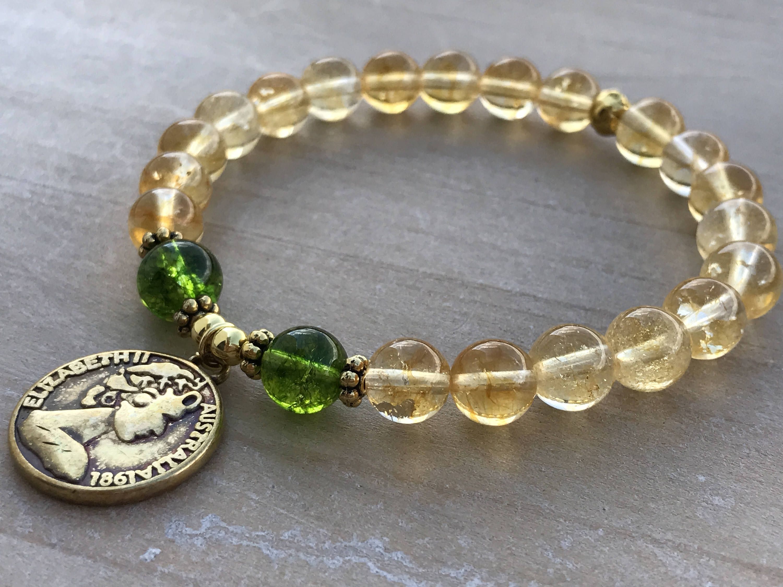Citrine Bracelet Citrine Jewelry Gemstone Bracelet Solar Plexus Chakra Bracelet Prosperity Bracelet 8mm Citrine Bracelet Mala Bracelet