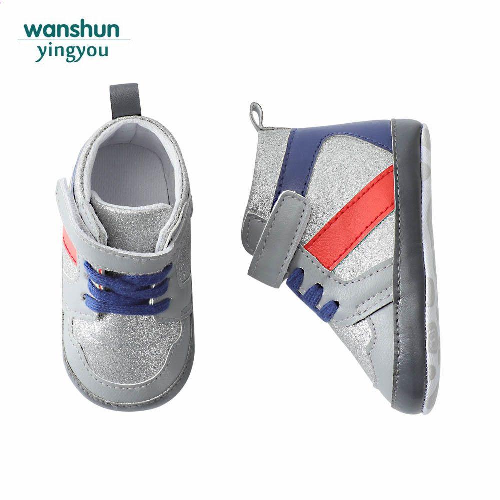 3 Kolory Baby Boy Girls First Walkers Soft Sole Maluch Pierwsze Kroki Dzieciece Buty Sneaker Antyposlizgowe Prewalker Noworodka Male Shoes Sneakers Balenciaga