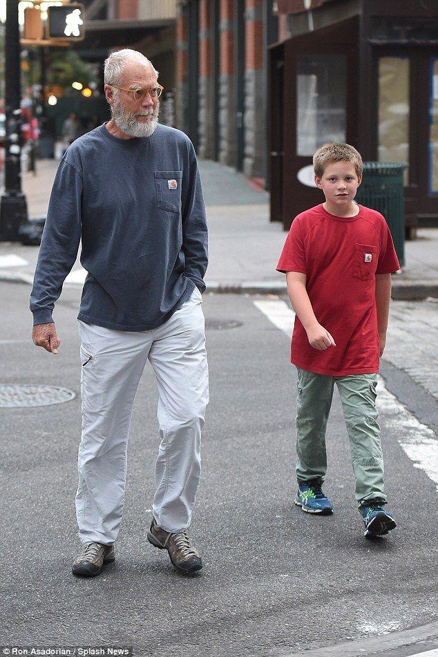 David Letterman sports Santa beard on walk with his son | people I